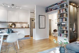 Svédországi apartman 43 m2-en egy Bauhaus épületben