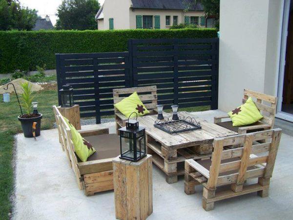 Raklap dohányzóasztal natúr és raklap kerti bútor