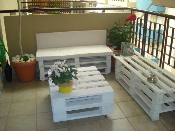 Raklapból készült asztal ötletek teraszra és kertbe