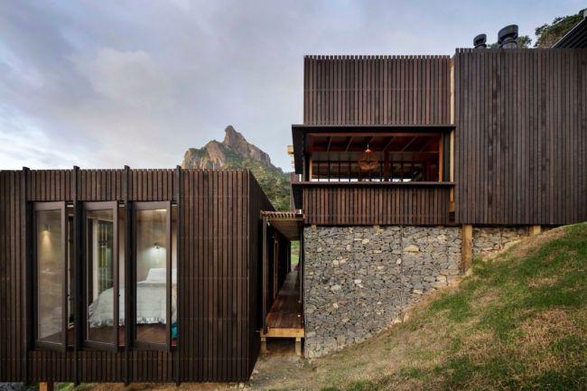 Nyitható oldalfalak, modern nyaraló