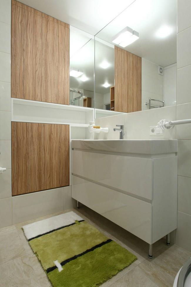 Modern fürdőszoba egyedi bútorokkal