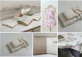 Csipkelengye lakástextilek romantikus, vintage, és shabby chic lakberendezéshez