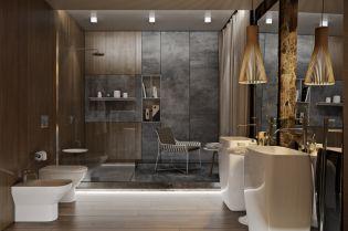 Retró elemek és természetesség egy modern fürdőszoba berendezésénél