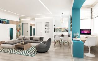Bravúros lakberendezési megoldások egy 50 m2-es lakásban