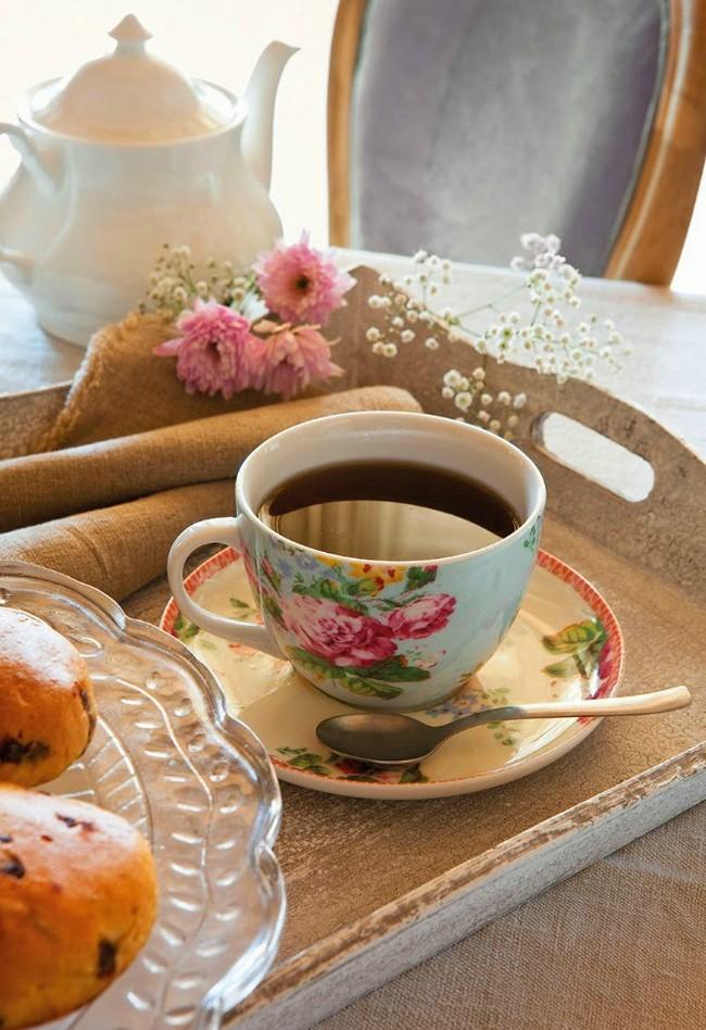 Rózsás kávéscsésze