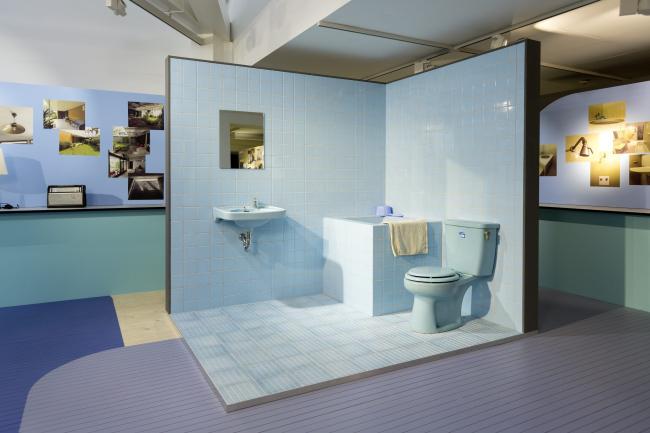 Retro ázsiai fürdőszoba