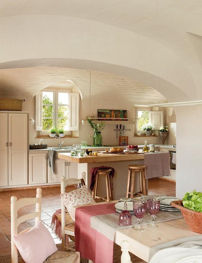 Étkező és mediterrán konyha terrakotta padlólap
