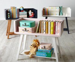 Kreatív gyerekszoba tárolópolc és szekrény ötletek