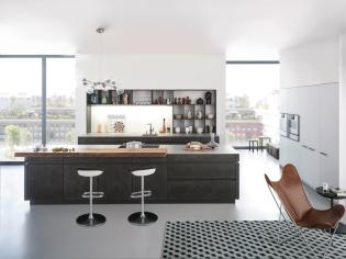 Beton felülettel készült konyhabútort tervezett a Leicht