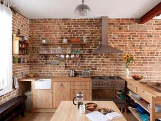 Dekoráld a konyhafalat szeletelt téglával