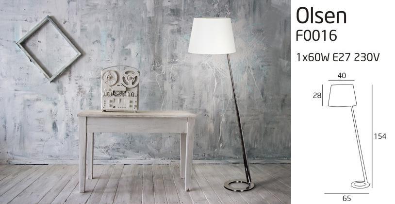 Maxlight Olsen fehér állólámpa