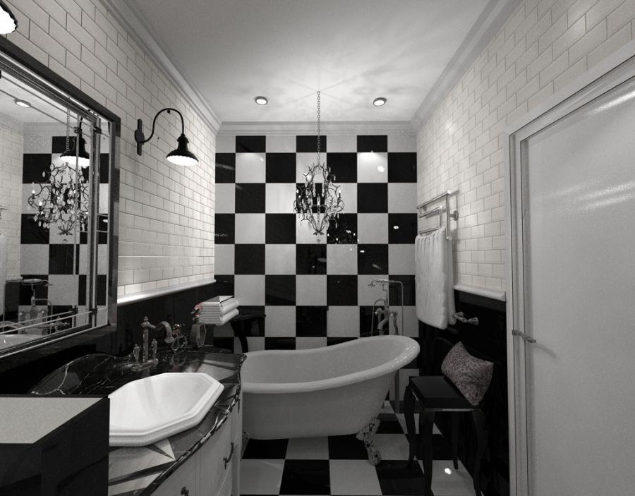 Art deco fürdőszoba látványterv