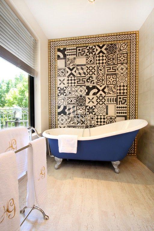 Klasszikus fürdőszoba cementlappal