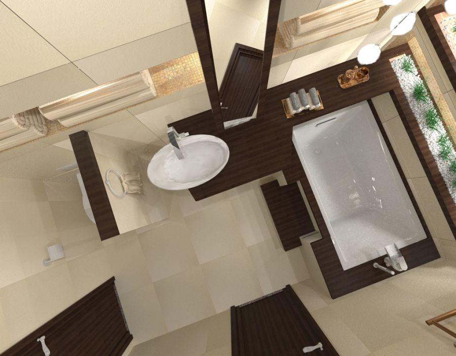 Modern fürdőszoba látványterv