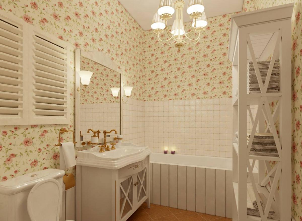 Provance-i fürdőszoba inspiráció