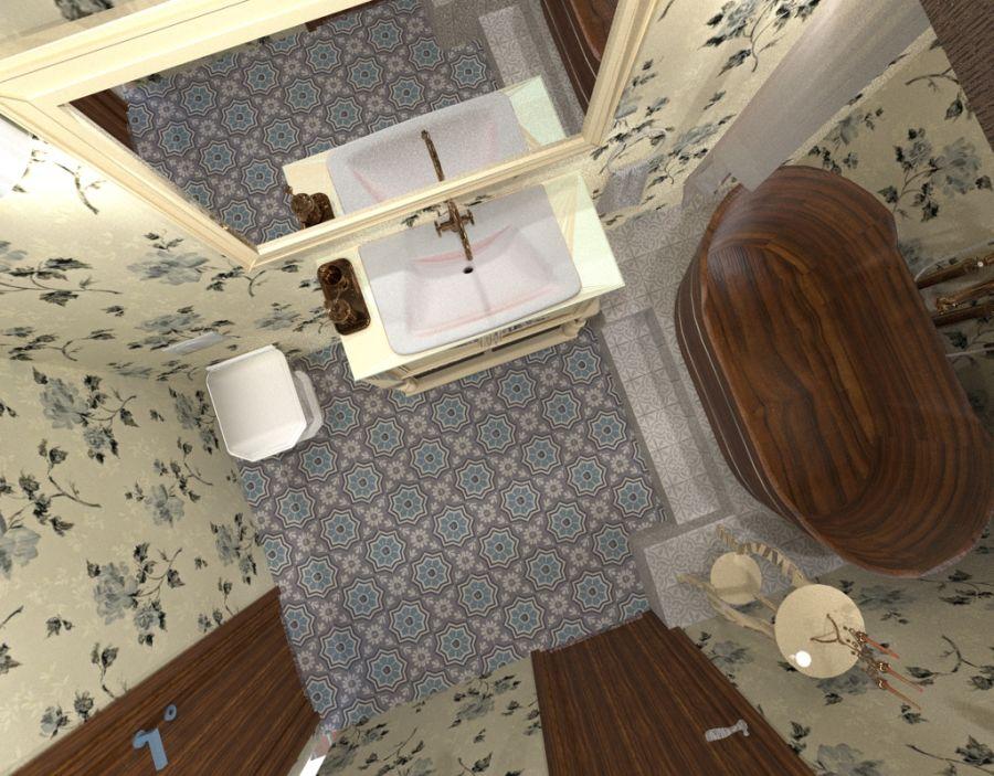 Provance-i fürdőszoba látványterv