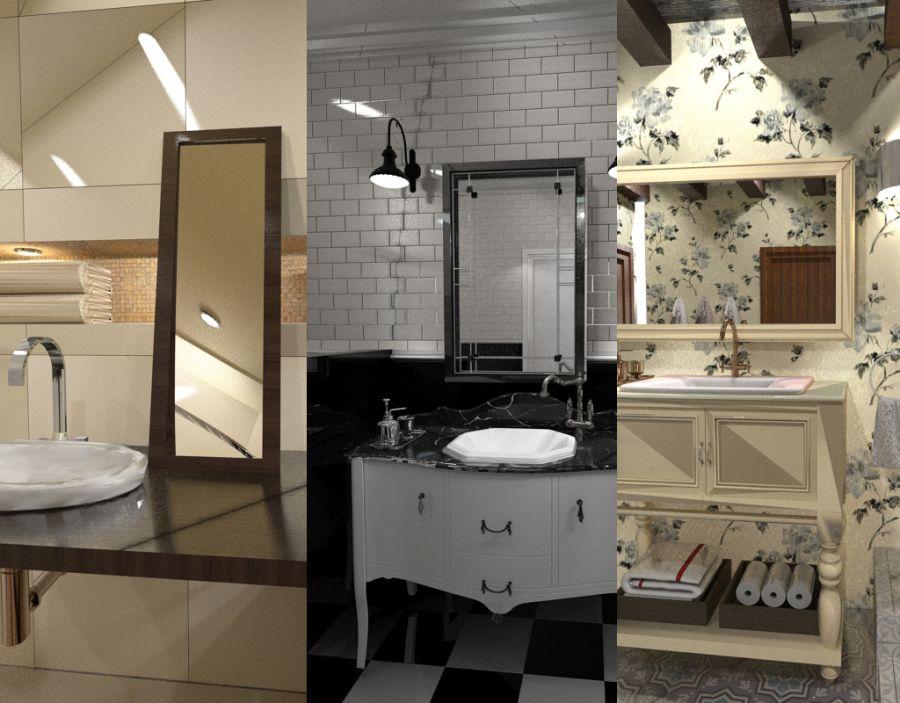 Fürdőszoba látványtervek Siroco Interiors