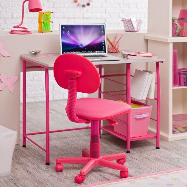 Pink gyerekszobai szék forgó