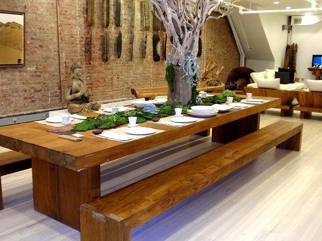 Rusztikus hangulatú étkezőpad