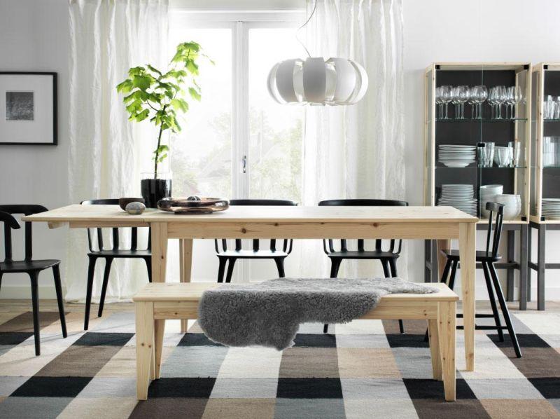 Tömörfenyő étkezőasztal és étkezőpad