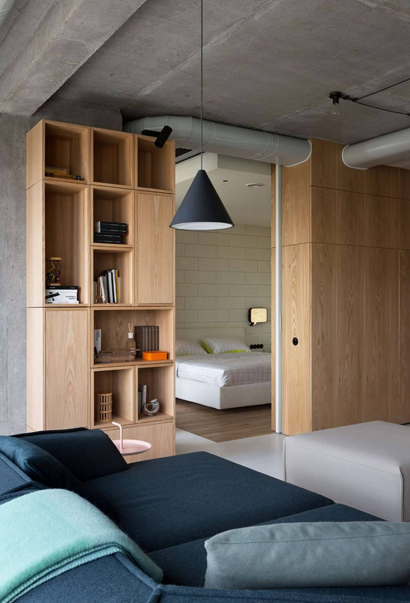 Méretre tervezett egyedi minimál bútor