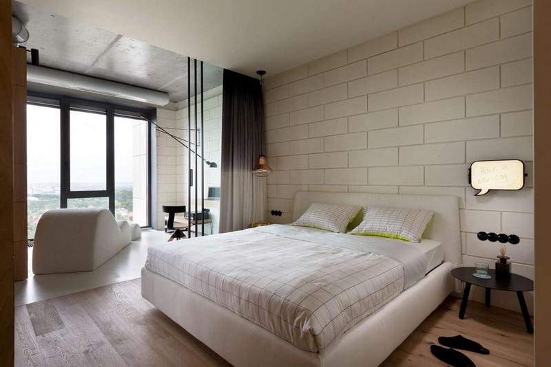 Modern hálószoba lakberendezés
