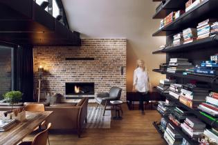 Óriási lakberendezési ötletek egy kis alapterületű tetőtéri loft lakásban