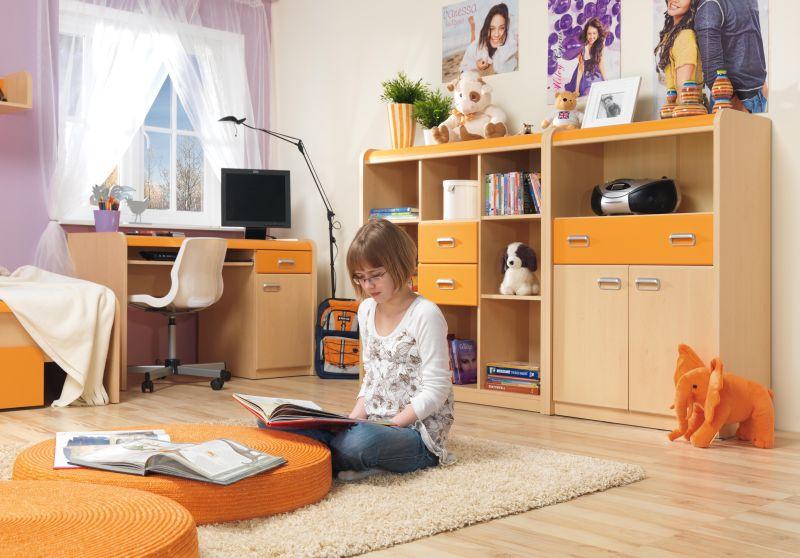 Apli lapraszerelt gyerekbútor narancssárga