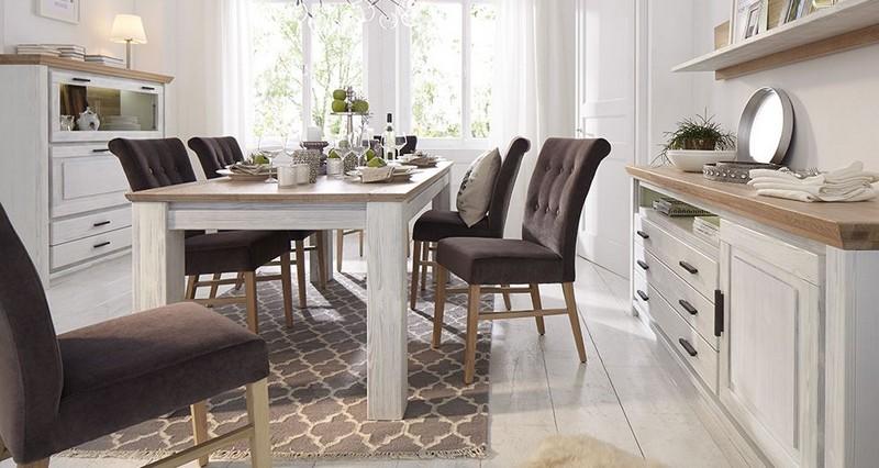 Outlet német tömörfa étkezőasztal