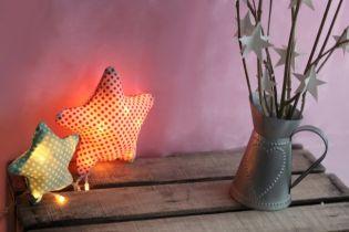 Csináld magad - Ünnepi fények dekoranyagba rejtve