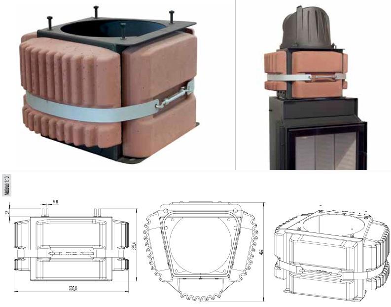 Austroflamm infra kandalló belső szerkezete