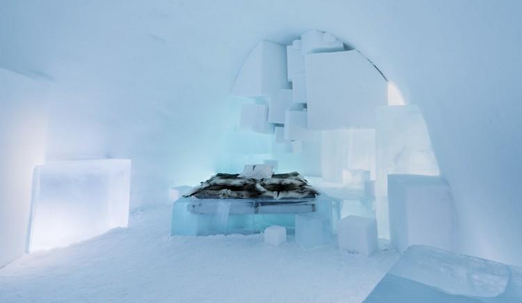 Modern jéghotel berendezés