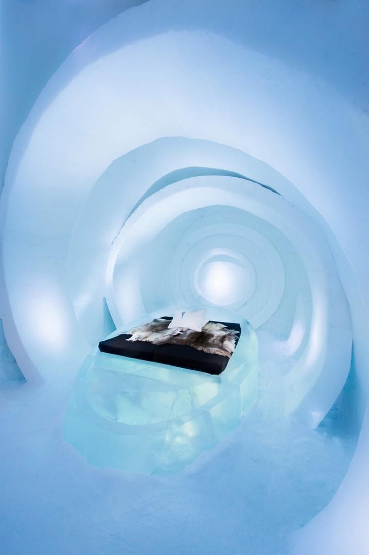 Modern jéghotel szoba