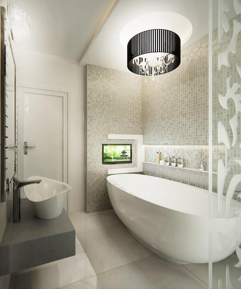Ovális kád a fürdőszobában ovális mosdóval Dóró Judit fürdőszoba tervei