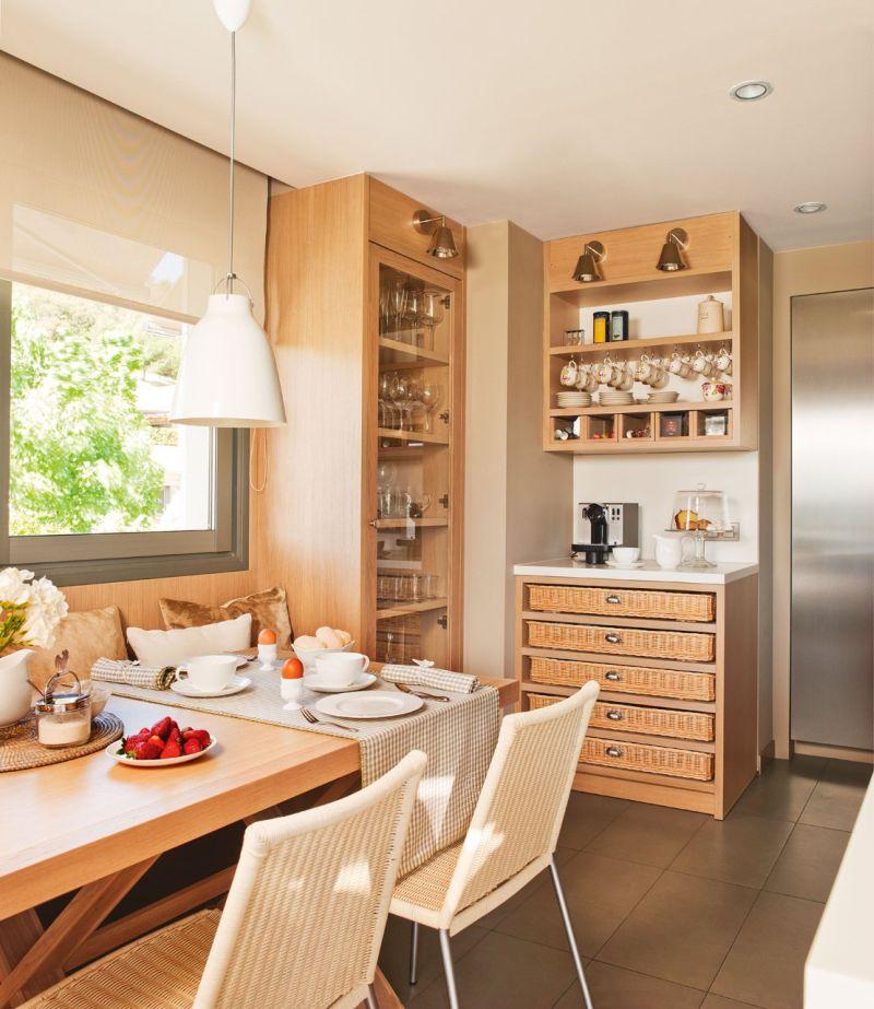 Praktikus tárolószekrények a konyhában
