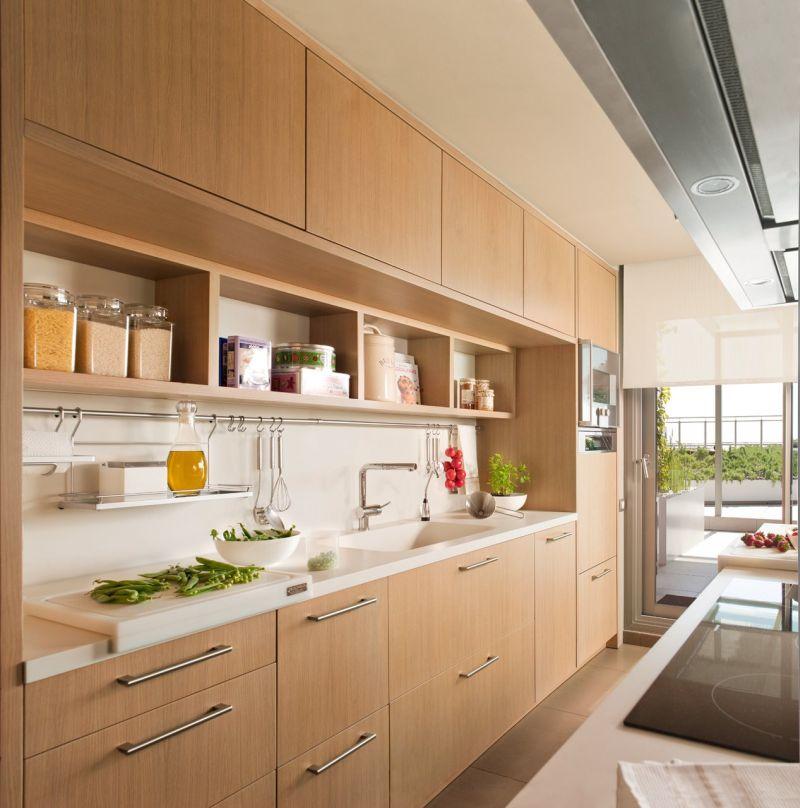 Felső konyhaszekrény nyitott polccal egyedi tervezés