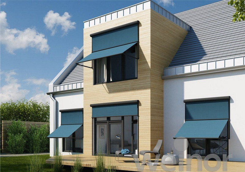 Külső ablak árnyékoló Weinor kék