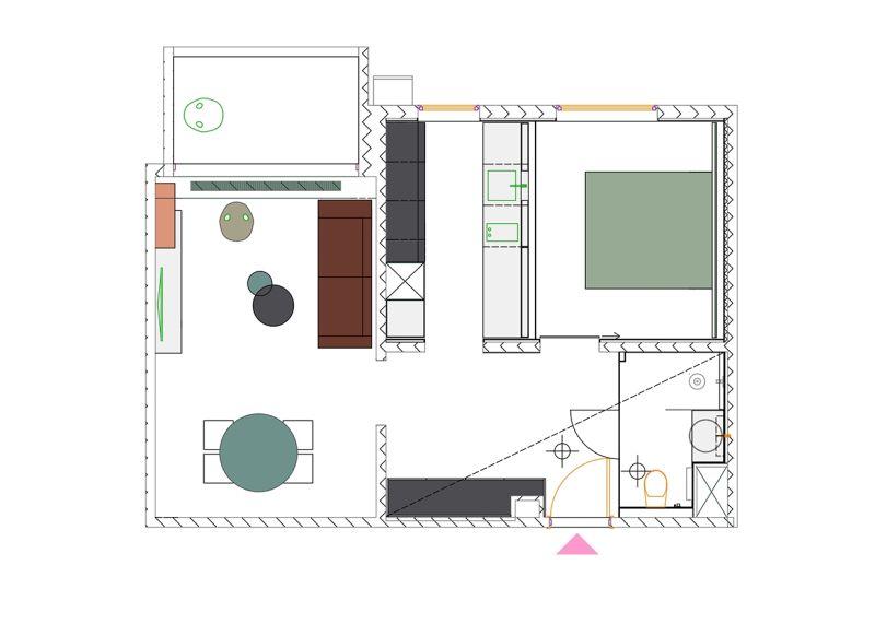 50 m2 panel átalakítási terv