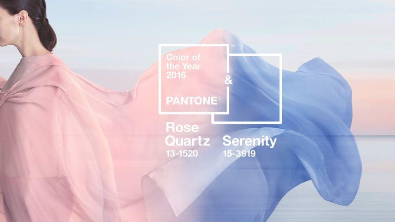 Rose Quartz és Serenity Blue Pantone 2016 színek