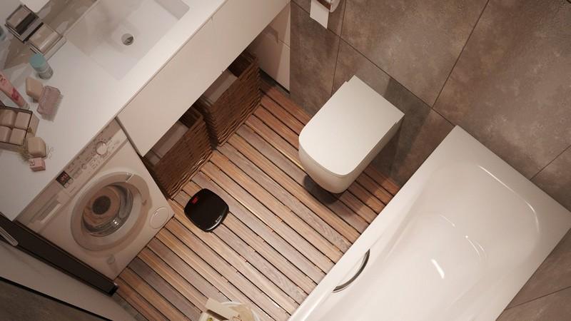 Fapadlós fürdőszoba ötlet alaprajzzal
