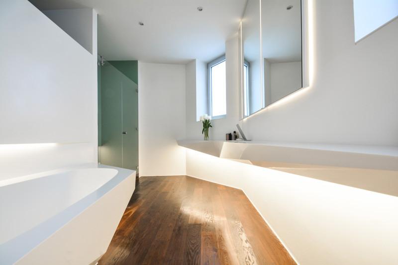 Led világítás corian mosdópult alatt