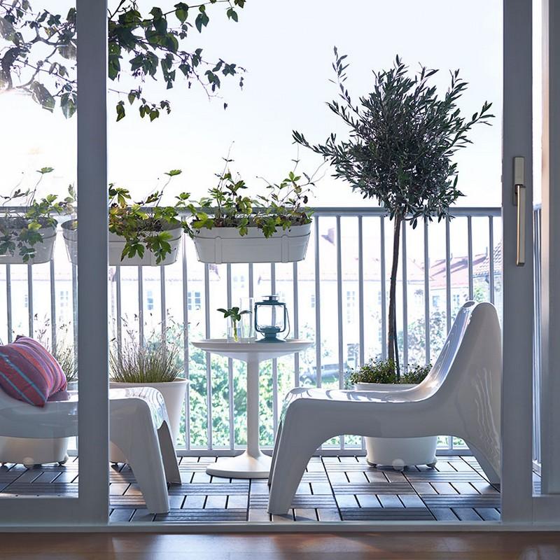 IKEA PS VÅGÖ stílusos kültéri bútor fehérben, BUNSÖ néven a gyerekfotel változat is elérhető