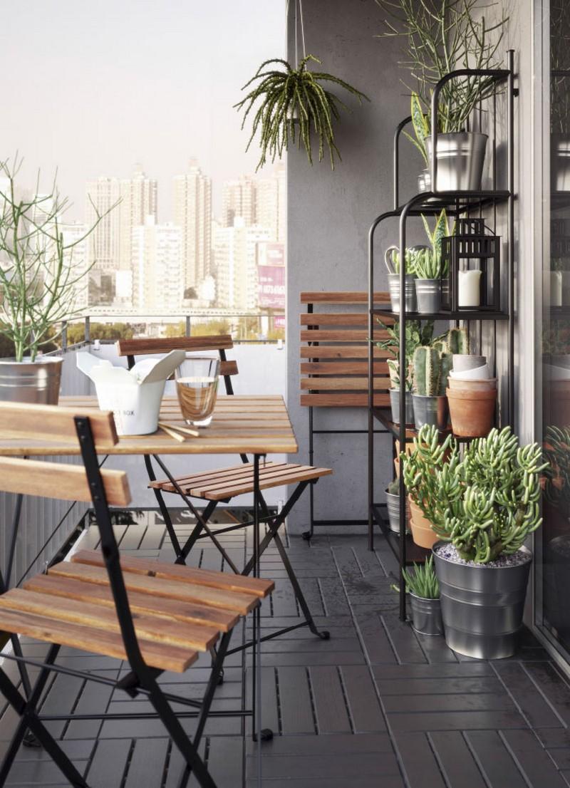 TÄRNÖ székek és asztal akácfa és fém kombinációja