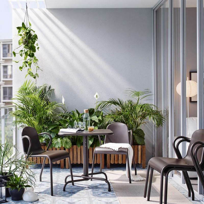 TUNHOLMEN helytakarékos összecsukható asztal és rakásolható szék Ikea