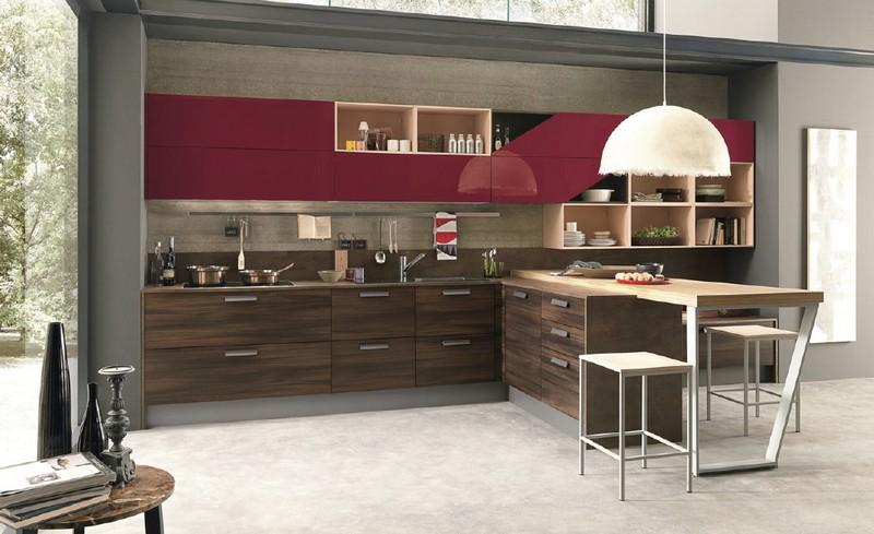 A játékos modern: a LUNGOMARE olasz konyhabútor lakberendezés