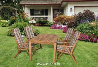 Esztétikus és időtálló kültéri keményfa kerti bútorok trópusi akáciából