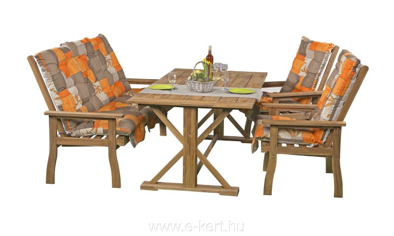 Akácia kerti bútor garnitúra 4 személyes