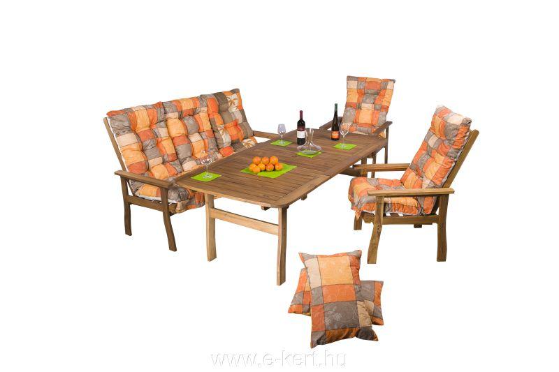 Akácia kerti bútor garnitúra több székkel is rendelhető