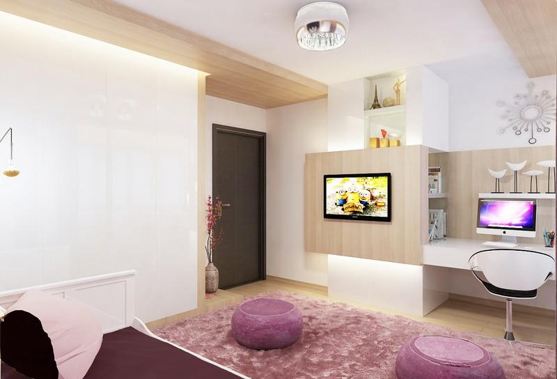 Lányszoba lakberendezés egyedi tervezésű bútorokkal Dóró Judit lakberendező