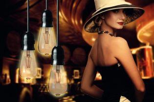 Energiatakarékos ledszálas fényforrások vintage lámpákhoz